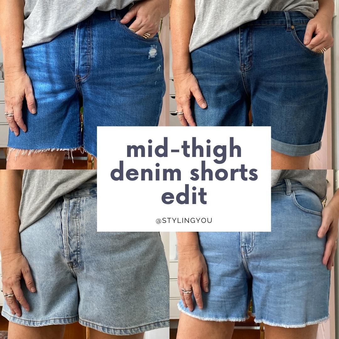 Styling You mid-thigh denim shorts edit 2021