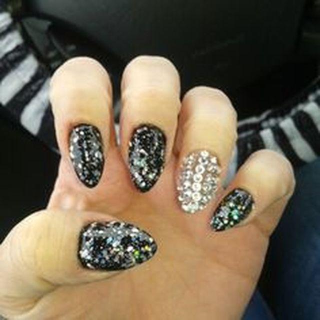 Brithday Bling Nails 1