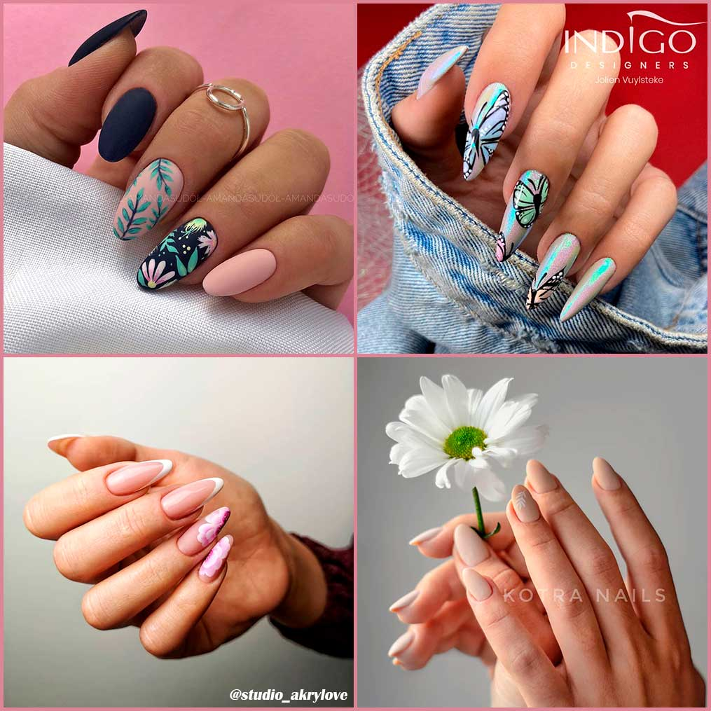 Cute Spring Color Almond Nails 2020 Ideas Stylish Belles