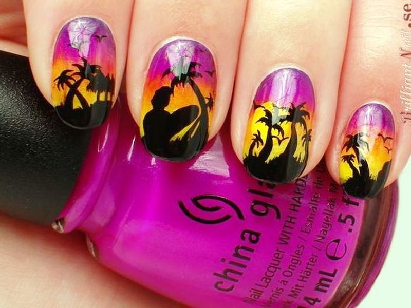 Sunset Nail Art
