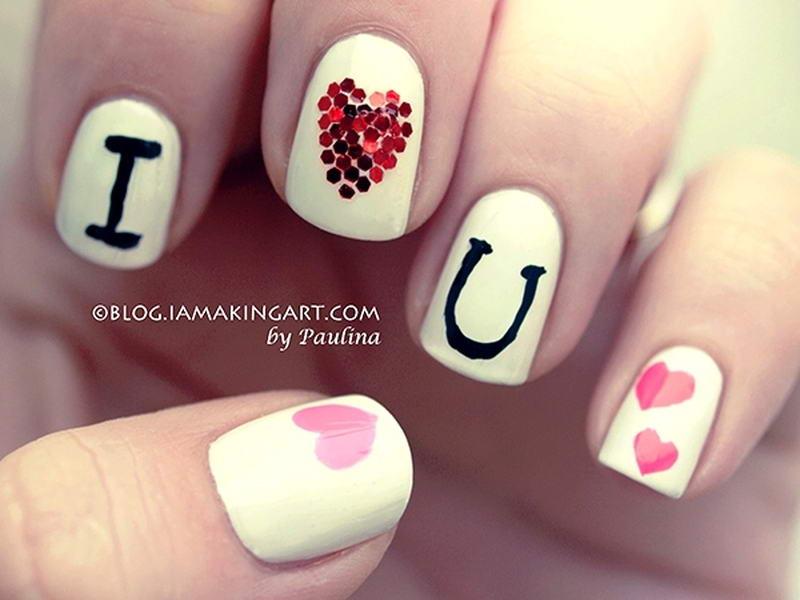 I Love You Nail Art