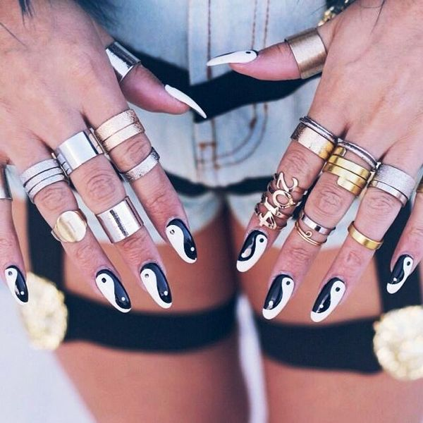 Rhinestones Can Also Make It A Geous One So Choose The Style That You Want And Get Best Design For Yin Yang Nail Arts Today