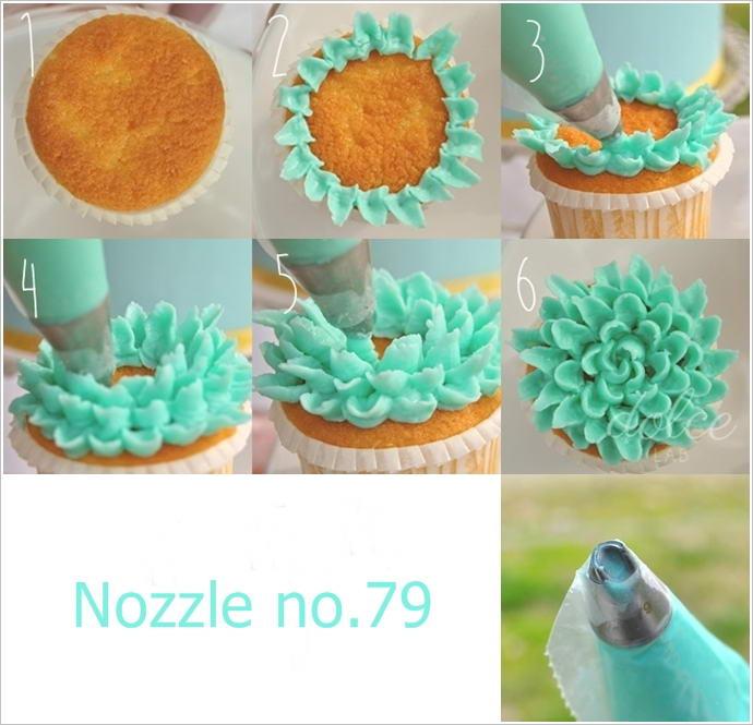 Types Cake Decorating Nozzles
