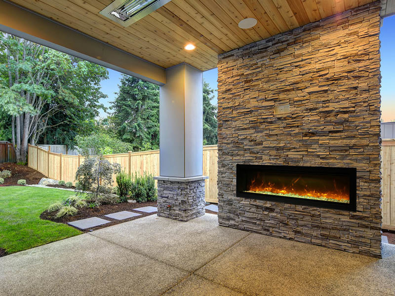 best outdoor electric fireplaces for