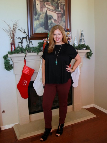 Stitch Fix December 2016 Review - Liverpool Anita Skinny Pant & Franco Sarto Quinera Lace Up Heel #stitchfix #fashion #style