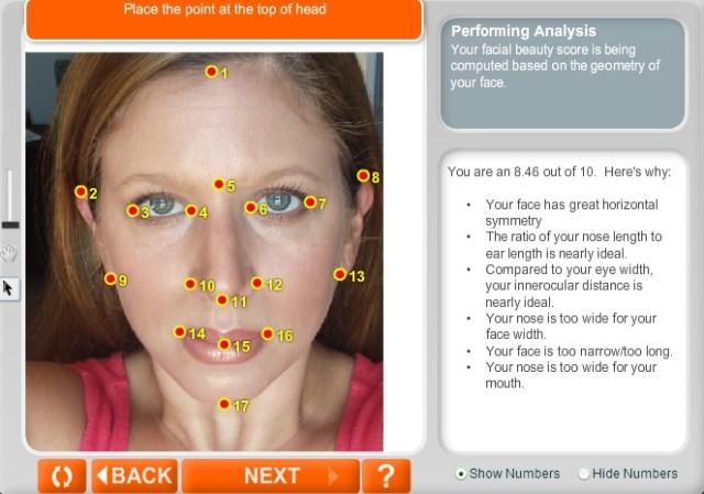 anaface facial beauty analysis face analysis face symmetry analysis