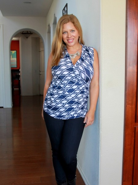 Stitch Fix October 2016 Review - 41Hawthorn Montgomery Cross Front Knit Top #stitchfix #fashion #style