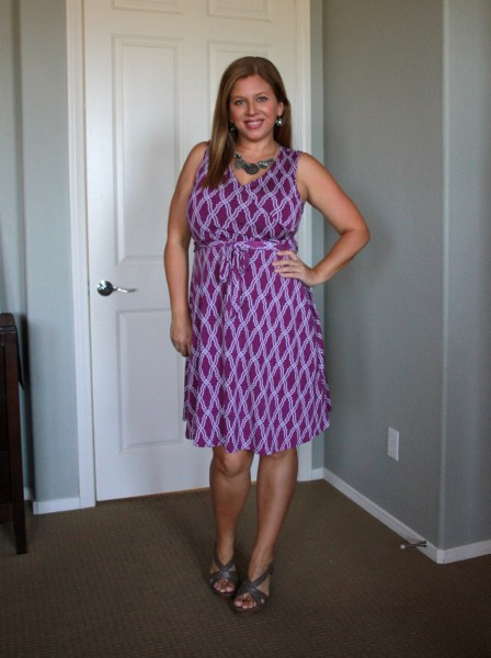 Stitch Fix Review May 2016 - 41Hawthorn Kassidy Faux Wrap Dress #fashion #style #stitchfix
