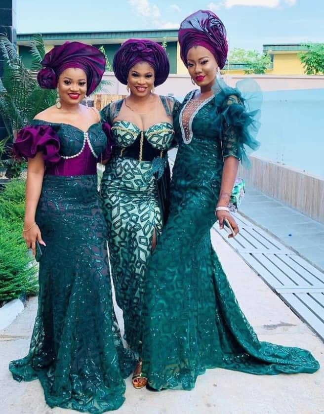 Amazing aso-ebi styles for sisters, friends and family members