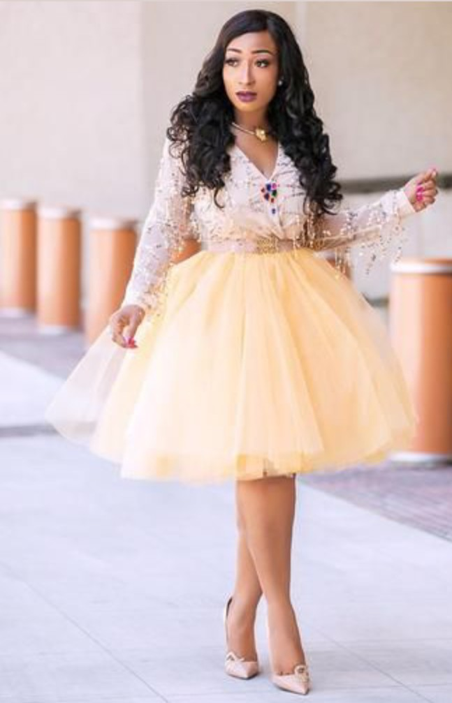 20 Amazing Short Gown Styles for Stylish Women