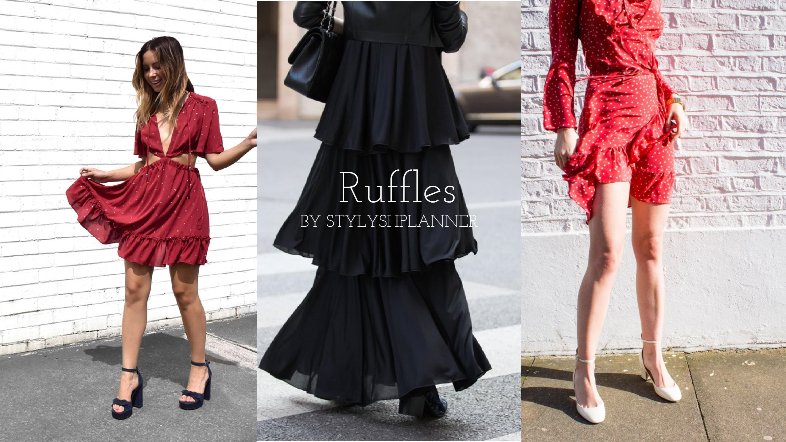 Dress for less: Ruffles