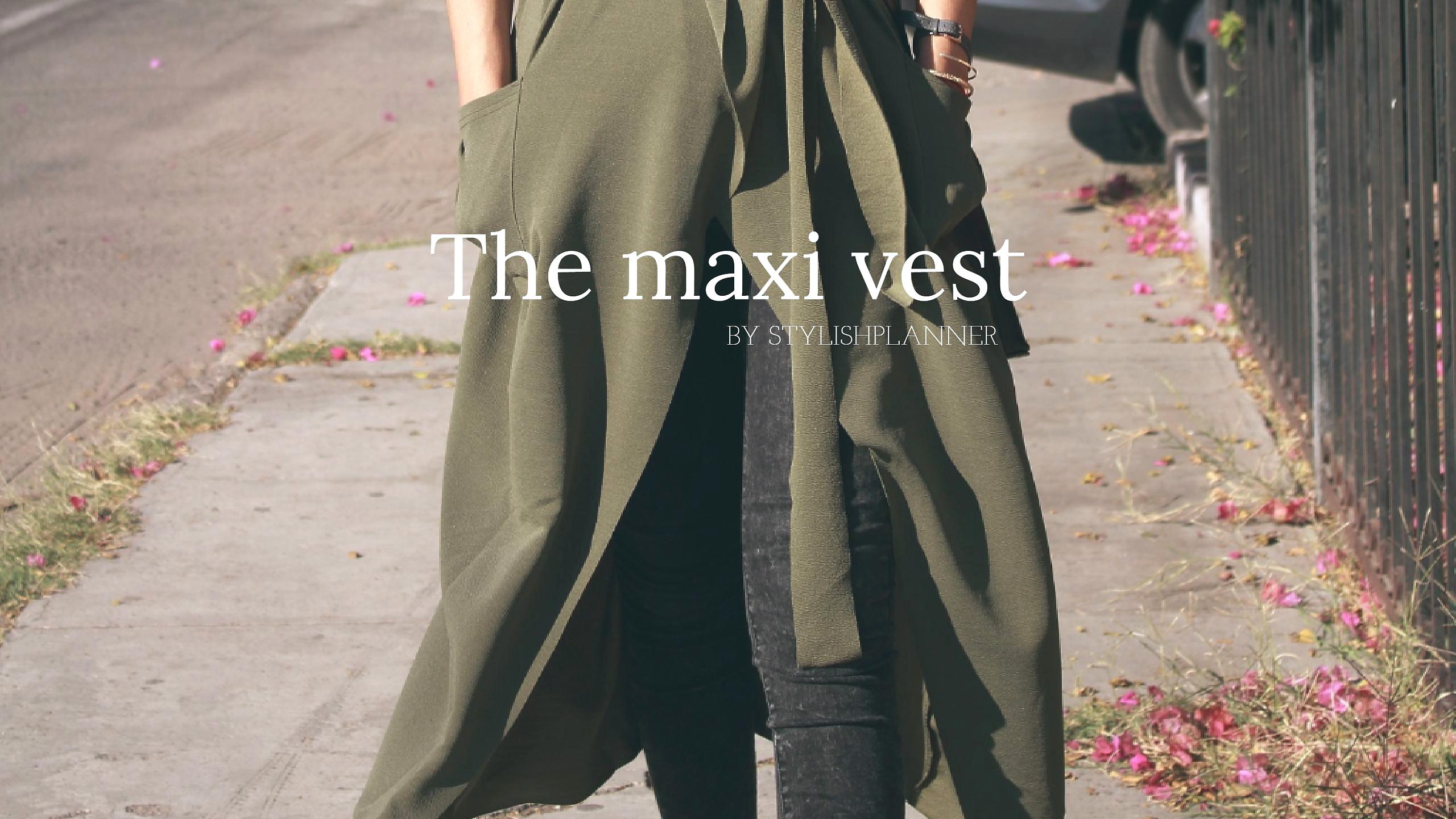 Maxi vest