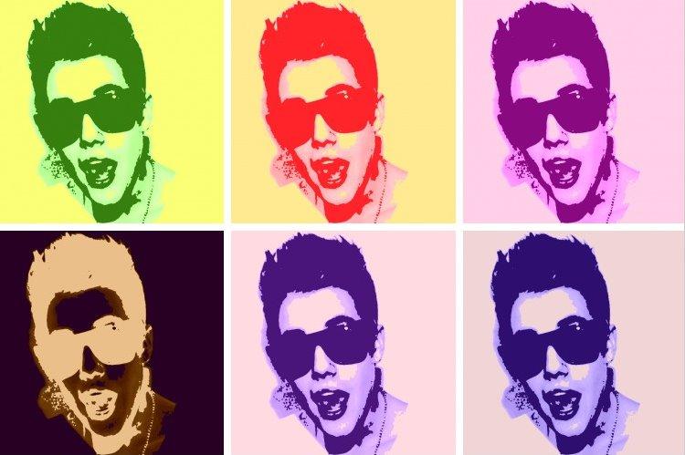 Justin Bieber Popart