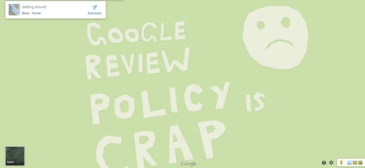 Google Review Policy is crap