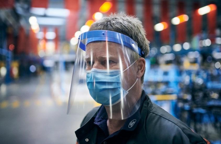 lavoro in sicurezza maschere protezione Ford