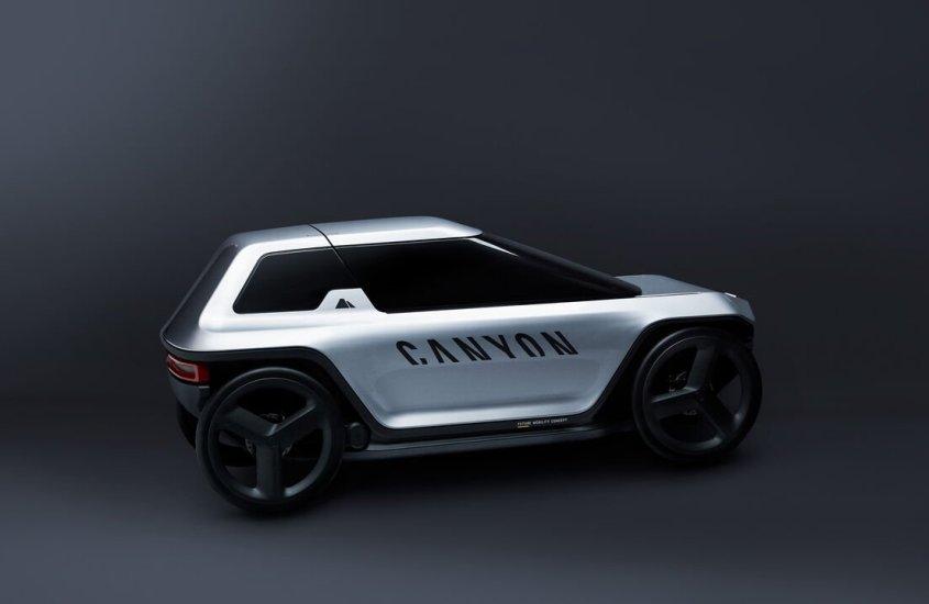 Canyon Future Mobility Concept, la city car che si muove pedalando