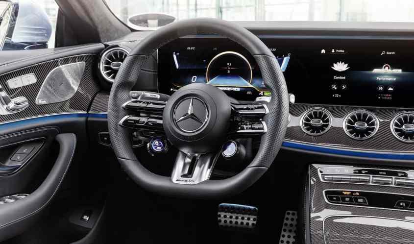 dettaglio interni Mercedes 53 CLS AMG restyling 2021