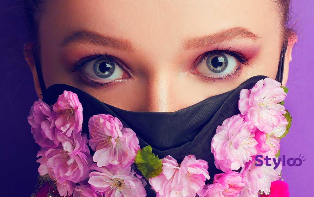 occhi sopracciglia makeup mascherina