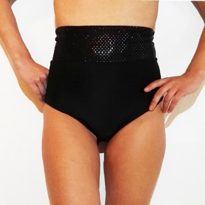 EXOTIC SHORT_BLACK_POLEWEAR& ACTIVEWEAR_STYLOSCOPE_FRONT