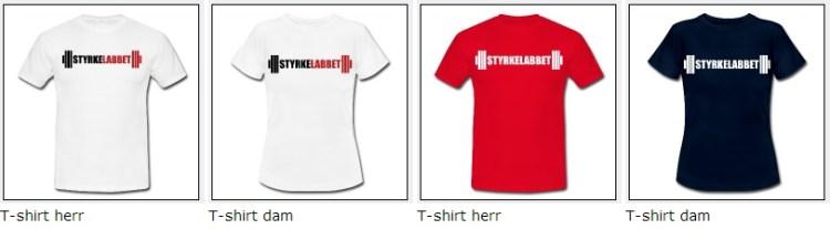 Styrkelabbets t-shirts