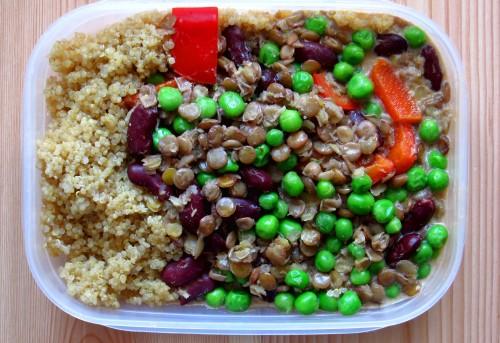Matlåda vegan Kokosgryta med baljväxter, quinoa