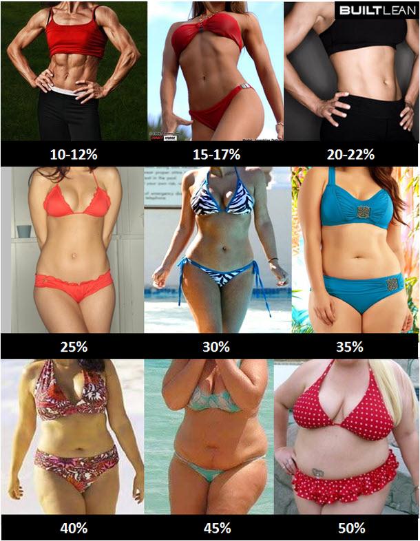 kroppsfett procent kvinnor