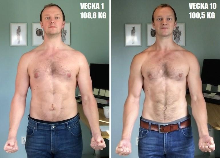 viktnedgång 1 månad