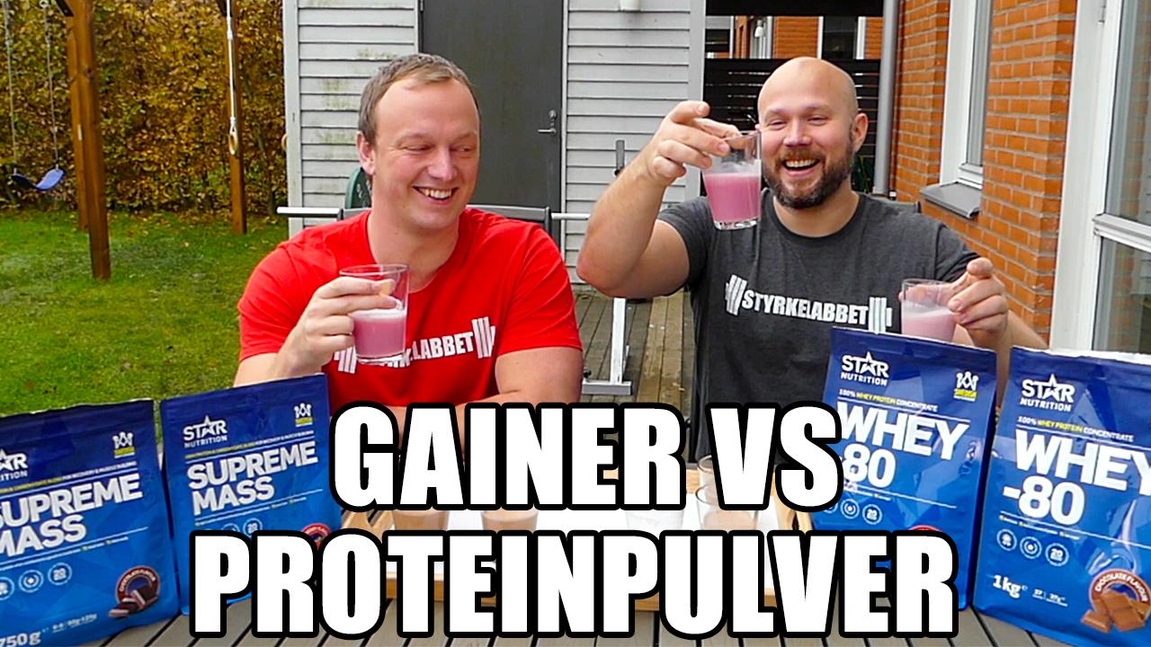 Gainer vs Proteinpulver