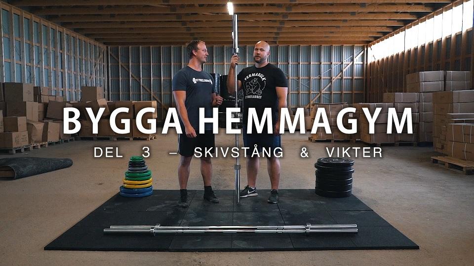Nykomna Så bygger du ett hemmagym: Del 3 – Skivstång & viktskivor SZ-24
