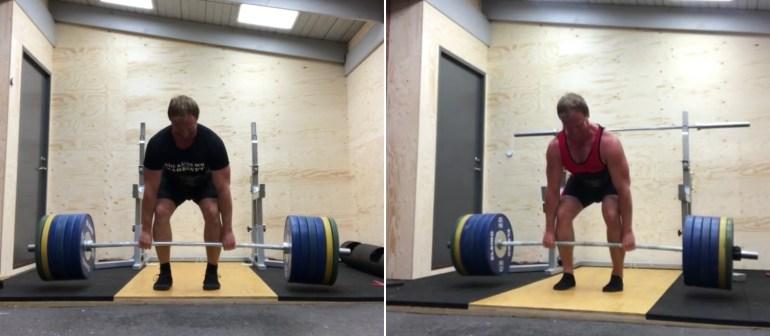 230 kg med recoil och eleiko