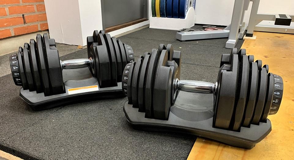 Hantlar ställbara mellan 5-40 kg
