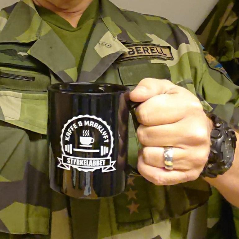 kaffe och marklyft mugg
