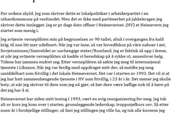 Åpent brev fra Geir Dolonen-Marthinussen