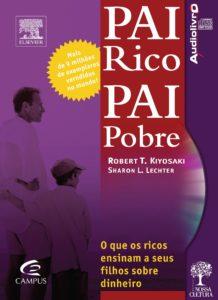 Capa do livro Pai Rico, Pai Pobre, que ajuda as pessoas a enriquecer.