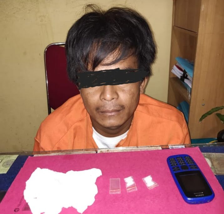 Kurir Sabu Desa Telayap Ditangkap Jajaran Polres Pelalawan