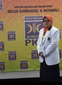 Rena Anggraini, SP - Anggota DPRD Kota Bengkulu dari Partai Keadilan Sejahtera (PKS)