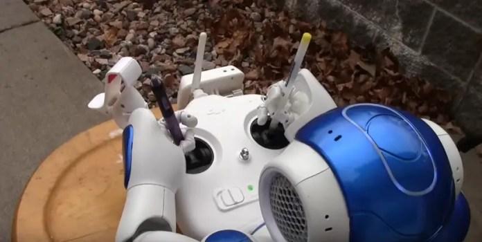 NAO Robot flying drone