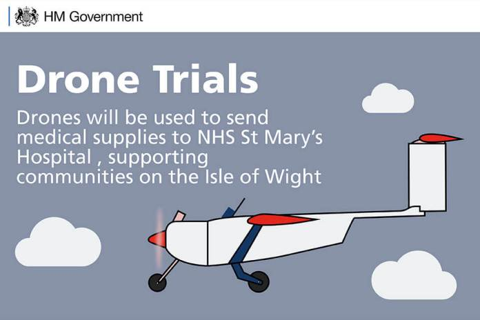Isle of Wight drone supply trial - sUAS Information 1