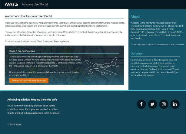 UK - Airspace Consumer Portal to be suspended - sUAS Information 5