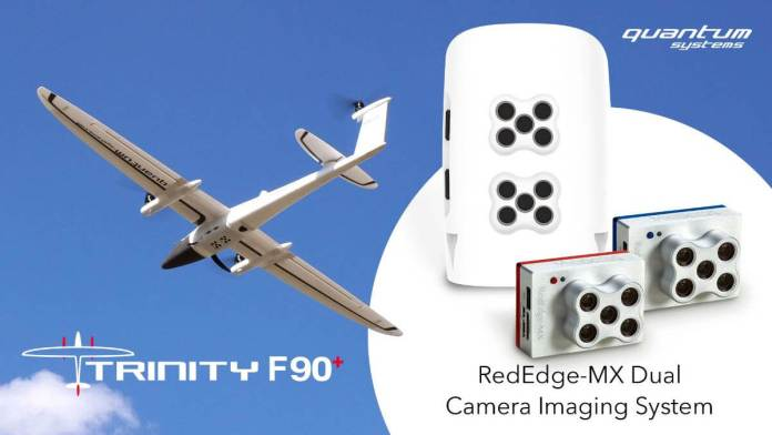 World's first fixed-wing UAV integration of the MicaSense Twin Digicam System - sUAS Information 1