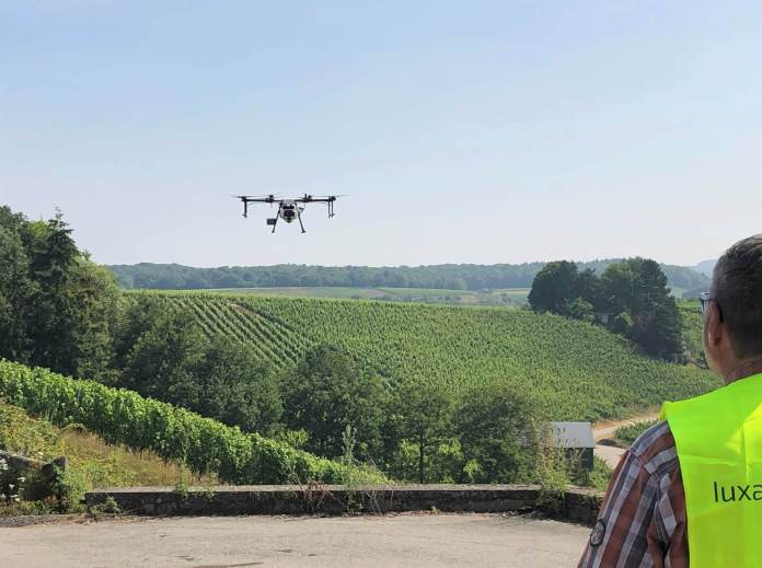 Luxaviation gives proof of idea of vineyards drone spraying - sUAS Information 2