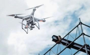 UAS drone construction site