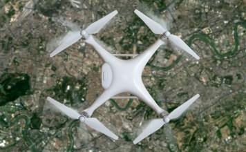 SonyB2B001bASDK Drone over city