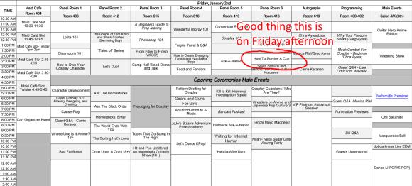 Ikkicon 2015 Schedule