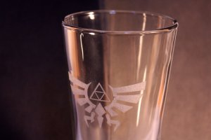 Legend of Zelda Laser Etched Glass