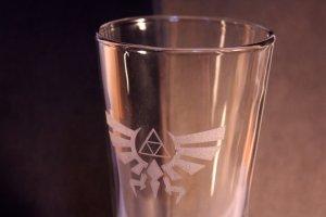 Legend of Zelda Laser Etched Glass