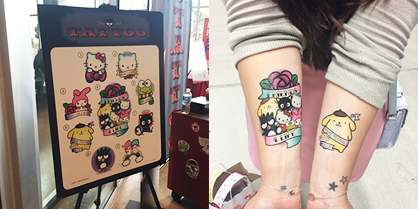 Hello Kitty temp tattoos