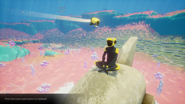Meditating in the Game is a Good Way to Take in the Sites