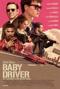 "Poster art for the movie ""Baby Driver"""
