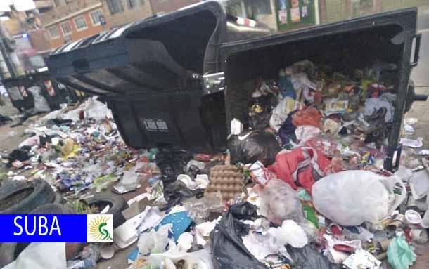 Habitantes de La Gaitana denuncian mal uso de los contenedores de basura